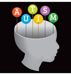 Autism child vector