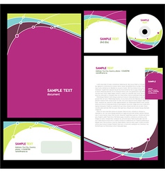 Abstract corporate identity line wave colorful vector