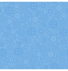 Blue cogwheels pattern vector