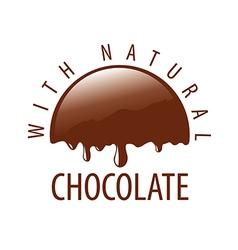 Logo natural melting chocolate vector