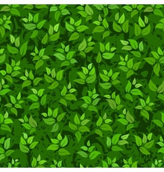Seamless abstract green leaves background vector