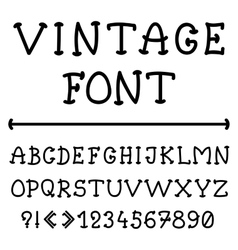 English alphabet in vintage style vector