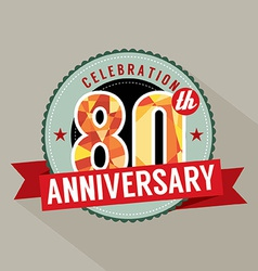 80th years anniversary celebration design vector