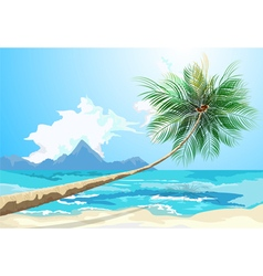 Summer on the beach vector