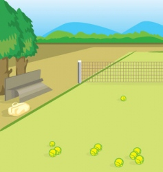 Tennis yard vector