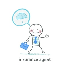 Insurance agent insurance agent is thinking about vector