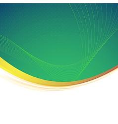 Abstract green gold border line vector