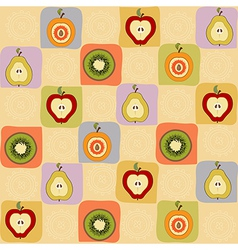 Childish seamless pattern with fruits vector