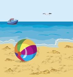 Ball on the beach vector