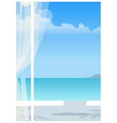 Clear sky window view vector