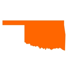 Map of oklahoma vector