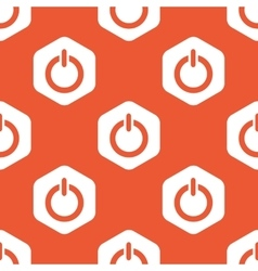Orange hexagon power pattern vector