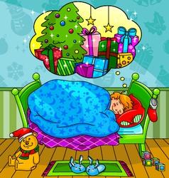 Christmas dreams vector