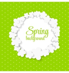 Cute spring background with paper flowers vector