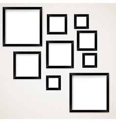 Set of vintage picture frames hanging vector