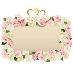 Wedding flower board vector