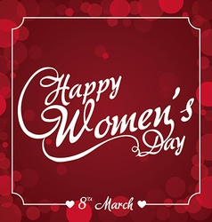 Happy womens day vector