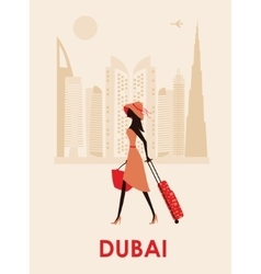 Woman in dubai vector