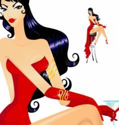 Burlesque girl vector