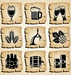 Icons beer vector