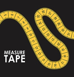 Measure tape design vector