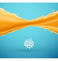 Juice splash vector