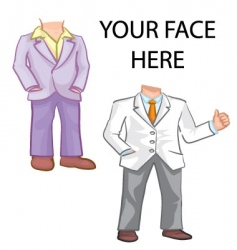 Suit template vector
