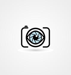 Camera eye icon vector