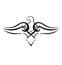 Tattoo eagle on white background vector