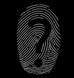 Question mark on a fingerprint vector