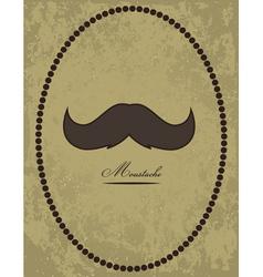 Moustache background vector