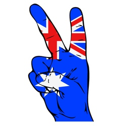 Peace sign with australian flag vector