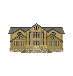 House isolated vector