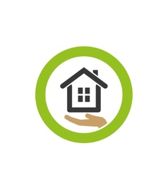 House icon on the palm vector