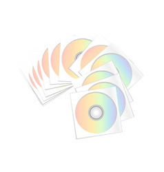 Compact disc archive isolated on the white vector