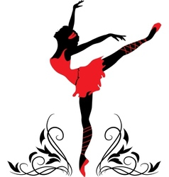 Dancing woman silhouette vector