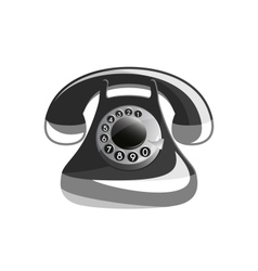 Icon of old phone vector