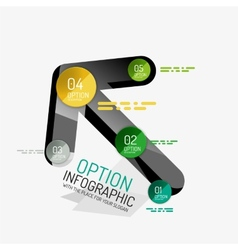 Minimal line design office web infographics vector