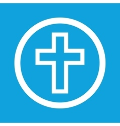Christian cross sign icon vector