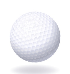 Ball for golf isolated on white background vector
