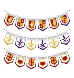 Heraldic bunting flags vector