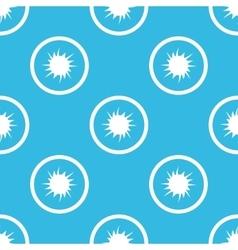 Starburst sign blue pattern vector