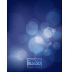 Abstract blue bokeh background soft blurry vector