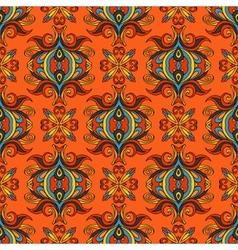 Orange floral festive pattern vector