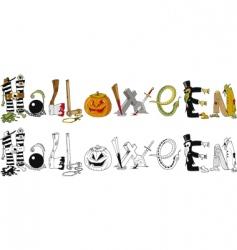 Halloween typography vector
