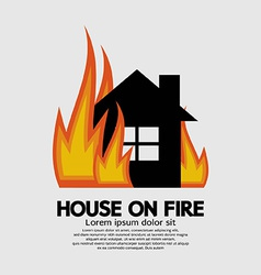 House on fire vector