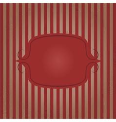 Vintage frame striped background vector