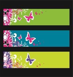Butterfly fantasy banner vector
