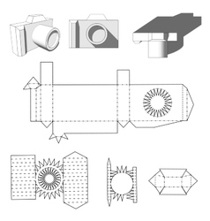 Camera paper paper cuttings camera for your vector