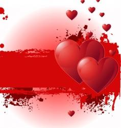 Valentine grunge banner vector